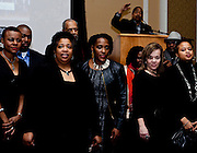 Ohio University President Roderick J. McDavis, rear, identifies the African-American faculty and staff and encourages the students to seek them out for guidance at the All Black Affair at Baker University Center Ballroom at Ohio University on Friday, January 29, 2016. © Ohio University / Photo by Sonja Y. Foster