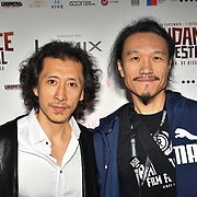 Actor Dai Wei and Director Yifei Wang of ,Fog Forest attend World Premiere of Team Khan - Raindance Film Festival 2018 at Vue Cinemas - Piccadilly, London, UK. 29 September 2018.