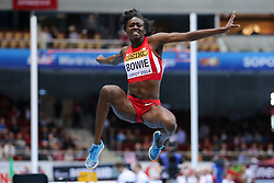 08.03.2014, Ergo Arena, Sopot, POL, IAAF, Leichtathletik Indoor WM, Sopot 2014, im Bild skok w dal, long jump, Tori Bowie (USA) // skok w dal, long jump, Tori Bowie (USA)  during day two of IAAF World Indoor Championships Sopot 2014 at the Ergo Arena in Sopot, Poland on 2014/03/08. EXPA Pictures © 2014, PhotoCredit: EXPA/ Newspix/ Tomasz Jastrzebowski<br /> <br /> *****ATTENTION - for AUT, SLO, CRO, SRB, BIH, MAZ, TUR, SUI, SWE only*****