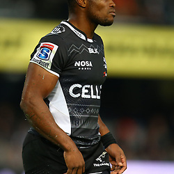 DURBAN, SOUTH AFRICA, 9,JULY, 2016 S'bura Sithole of the Cell C Sharks during The Cell C Sharks vs Toyota Cheetahs  Super Rugby Match at Growthpoint Kings Park in Durban, South Africa. (Photo by Steve Haag)<br /> <br /> images for social media must have consent from Steve Haag