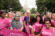 PPFA President Cecile Richards greets participants at the Rally for Women's Health on Capitol Hill.