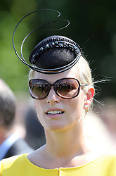 Zara Phillips at Ladies Day at Glorious Goodwood in the UK  Thursday, 1st August 2013<br /> Picture by Stephen Lock / i-Images<br /> File photo - Zara Phillips has given birth to a baby girl<br /> Zara Phillips has given birth to a baby girl at Gloucestershire Royal Hospital.<br /> Her husband and former England rugby player Mike Tindall was present at the birth.<br /> The weight of the baby was 7lbs 12oz, Buckingham Palace announced today.<br /> <br /> Picture filed Friday, 17th January 2014