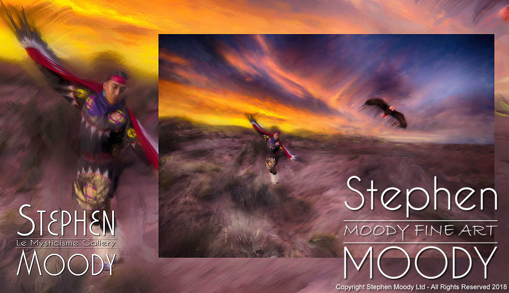 Tandem Eagles by Artist Stephen Moody - Master Photographer, Scottsdale, AZ.  Commissioned Artwork for Sale