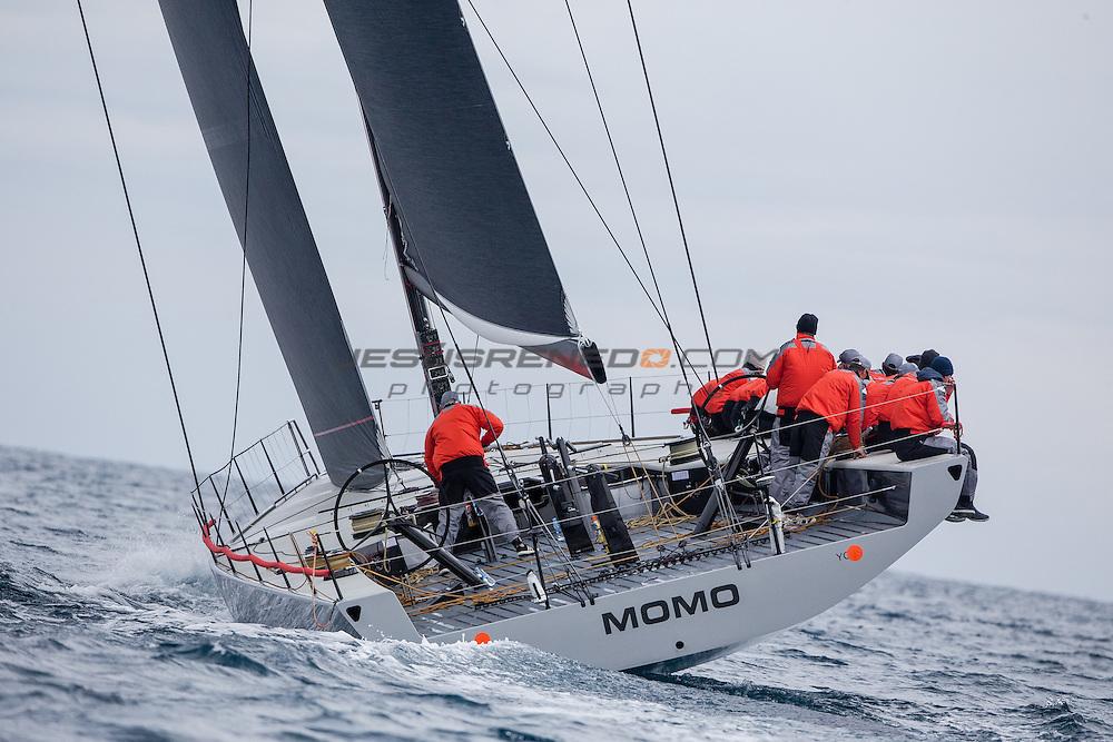 "Maxi 72 ""MOMO "" training in Palma for the 2015 season."