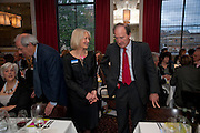 SANDRA HOWARD; CHARLES MOORE, Literary charity First Story fundraising dinner. Cafe Anglais. London. 10 May 2010. *** Local Caption *** -DO NOT ARCHIVE-© Copyright Photograph by Dafydd Jones. 248 Clapham Rd. London SW9 0PZ. Tel 0207 820 0771. www.dafjones.com.<br /> SANDRA HOWARD; CHARLES MOORE, Literary charity First Story fundraising dinner. Cafe Anglais. London. 10 May 2010.