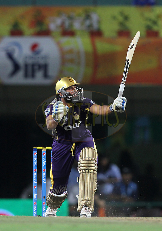 Yusuf Pathan of the Kolkata Knight Riders during match 21 of the Pepsi Indian Premier League Season 2014 between the Chennai Superkings and the Kolkata Knight Riders  held at the JSCA International Cricket Stadium, Ranch, India on the 2nd May  2014<br /> <br /> Photo by Deepak Malik / IPL / SPORTZPICS<br /> <br /> <br /> <br /> Image use subject to terms and conditions which can be found here:  http://sportzpics.photoshelter.com/gallery/Pepsi-IPL-Image-terms-and-conditions/G00004VW1IVJ.gB0/C0000TScjhBM6ikg