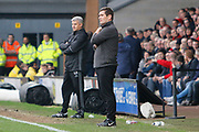 Nottingham Forest interim manager Gary Brazil and Burton Albion manager Nigel Clough during the EFL Sky Bet Championship match between Burton Albion and Nottingham Forest at the Pirelli Stadium, Burton upon Trent, England on 11 March 2017. Photo by Richard Holmes.