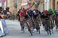 BILDET INNGÅR IKEK I FASTAVTALER. ALL NEDLASTING BLIR FAKTURERT.<br /> <br /> Sykkel<br /> Foto: imago/Digitalsport<br /> NORWAY ONLY<br /> <br /> Andre Greipel feiert auf Mallorca ersten Saisonsieg Andre GREIPEL ( GER / Lotto - Soudal ) gewinnt den ersten Tagesabschnitt der Mallorca Challenge in Porreres vor Sam BENNETT ( IRL / BORA-Argon18 ) und Edvald BOASSON HAGEN ( NOR / Team Dimension Data )<br /> Ort: Porreres - Mallorca - Illes Baleares - Balearic Islands - Spain - Spanien - Europe - Europa - Date / Datum: 28.01.2016