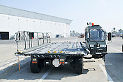 Israel, Ben-Gurion international Airport Cargo transport and loading truck