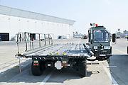 Israel, Ben-Gurion international Airport Cargo transport and loading truck