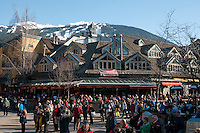 Visitors enjoy Whistler village during the 2010 Olympic Winter Games.