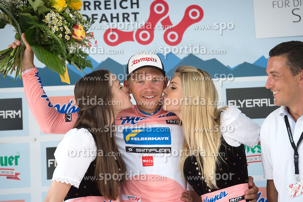 06.07.2015, Grieskirchen, AUT, Österreich Radrundfahrt, 2. Etappe, Litschau nach Grieskirchen, im Bild Matthias Krizek (AUT, Bester Österreicher) // Best Austrian rider Matthias Krizek of Austria during the Tour of Austria, 2nd Stage, from Litschau to Grieskirchens, Grieskirchen, Austria on 2015/07/06. EXPA Pictures © 2015, PhotoCredit: EXPA/ Reinhard Eisenbauer