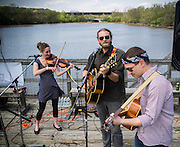 Beanstalk Library perform on the Anacostia River during the fifth annual Kingman Island Bluegrass Festival in Washington, DC. 26 April 2014 PHOTO/John Nelson