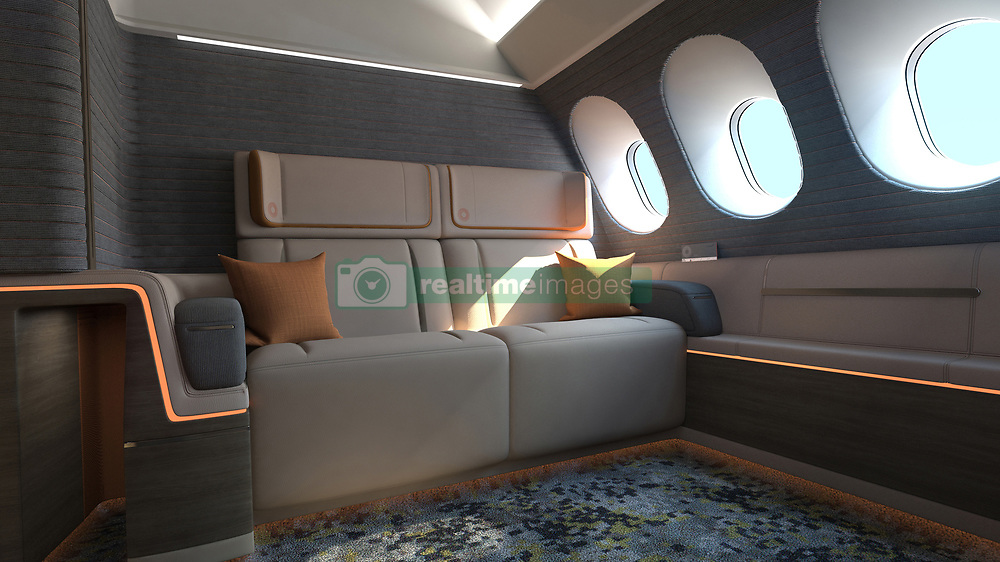 April 26, 2017 - inconnu - First class air passengers could one day be traveling in suites inspired by some of the world's finest boutique hotels.The battle between airlines to tempt first and business class passengers is worth fighting.These high-flying passengers provide nearly half of an airline's revenue.So there is a constant search for designs.And the latest comes from London-based design company Seyourpowell.Instead of traditional seats, passengers could soon sprawl out in their own private rooms, workout in a gym, visit a spa or stretch their legs in a 'light lounge'.The idea of the shift is to give this elite group more privacy and space, as well as flexibility, allowing them to feel as if they are in a hotel rather than an airplane.Seymourpowell's First Spaces concept is billed as taking inspiration from a boutique hotel.The company has imagined an area in an Airbus A380, the world's largest passenger jet, containing six private rooms.Each room comes with a retractable door, armchair or couch that folds into a bed, a 42-inch TV screen and 'smart in-flight service system' designed to anticipate passengers' needs.The fully-enclosed suites are aimed at wealthy solo passengers or couples who don't want to be bothered or even seen by fellow travellers during a long-haul flight.Seymourpowell found there was a desire for high-end premium service after surveying passengers.The company then set out to redefine first class with the hotel-inspired suites that are less like a faceless cubicle. There would be single and double rooms A king-size bed means double rooms could be sold to solo passengers at a premium fare, while couples could book one at a price that is cheaper than two single rooms, said Seymourpowell.Each suite would have soft furnishings, storage for hand luggage, space to hang clothes, drawers for personal belongings, amenity kits, a tablet computer to control room functions and a large table that can be stowed.Passengers would control in-flight