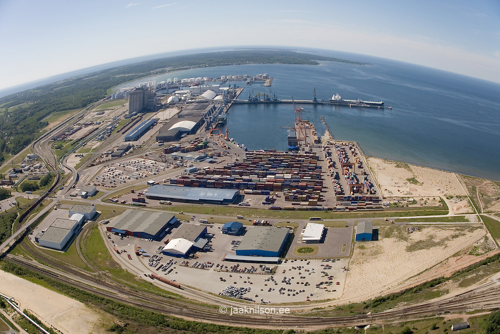 Aerial View of Tallinn Port at Muuga by Baltic Sea in Estonia