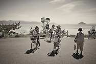 tourists Naoshima Island Japan