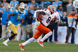 Dec 31, 2011; San Francisco CA, USA;  Illinois Fighting Illini wide receiver A.J. Jenkins (8) rushes up field after a pass reception for a touchdown against the UCLA Bruins during the fourth quarter at AT&T Park.  Mandatory Credit: Jason O. Watson-US PRESSWIRE