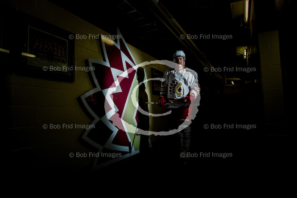 22 November 2014:  Rory Bell (21) of the Chiefs  during a game between the Chilliwack Chiefs and the Coquitlam Express at Prospera Centre, Chilliwack, BC.    ****(Photo by Bob Frid - All Rights Reserved 2014): mobile: 778-834-2455 : email: bob.frid@shaw.ca ****