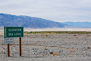 Death Valley Elevation Sea Level Sign
