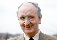 Bertie McConnell, Bangor, Co Down, N Ireland, candidate, Alliance Party of N Ireland, North Down consituency, N Ireland Assembly Election, June 1973. Mr McConnell is blind. 197305000278a.<br /> <br /> Copyright Image from Victor Patterson, 54 Dorchester Park, Belfast, UK, BT9 6RJ<br /> <br /> t1: +44 28 9066 1296 (from Rep of Ireland 048 9066 1296)<br /> t2: +44 28 9002 2446 (from Rep of Ireland 048 9002 2446)<br /> m: +44 7802 353836<br /> <br /> e1: victorpatterson@me.com<br /> e2: victorpatterson@gmail.com<br /> <br /> The use of my copyright images is subject to my Terms & Conditions.<br /> <br /> It is IMPORTANT that you familiarise yourself with them. They are available on my website at www.victorpatterson.com.<br /> <br /> None of my copyright images may be used on a website unless they are visibly watermarked, i.e. © Victor Patterson within the body of the visible image. Metadata denoting my copyright must NOT be deleted. <br /> <br /> Web use (maximum size - 300 kb) is extra at currently recommended NUJ rates.