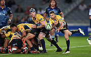 Brumbies halfback Nic White in action during the Super Rugby match between The Blues and Brumbies at Eden Park in Auckland, New Zealand. Friday 10 April 2015. Copyright Photo: Andrew Cornaga / www.Photosport.co.nz