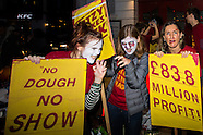 31 Oct 2016 - A Halloween themed Strike by Ritzy cinema staff to demand the living wage