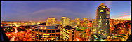 Panorama of Rosslyn, VA with view of Key Bridge and Georgetown.  Image Captured 2011.<br />