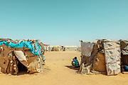 NIGER,, the refugee camp near the Agadez city