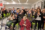 Roma 18 Dicembre 2015<br /> Papa Francesco apre la Porta Santa della Carità nell'ostello della Caritas diocesana intitolato a don Luigi Di Liegro, in via Marsala, vicino alla stazione Termini di Roma.<br /> Rome, Italy.18th December 2015<br /> Pope Francis opens Holy Door of Charity in the hostel of the diocesan Caritas named after Don Luigi Di Liegro, in Via Marsala, near the Termini station in Rome.
