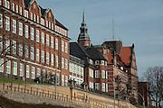 historische Verwaltungsgebaeude an der St. Pauli Hafenstrasse, St. Pauli, Hamburger Hafen, Hamburg, Deutschland.|.historical buildings in St. Pauli Hafen street, St. Pauli, Hamburg, Germany