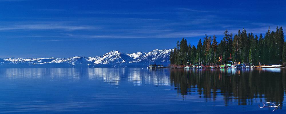 Lake Tahoe Scenic Panorama Reflections