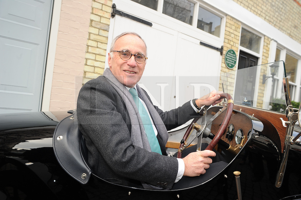 © Licensed to London News Pictures. 15/01/2013.The 100 years anniversary of Aston Martin.Plaque unveiling to mark 100th Anniversary of Aston Martin who started the company on this day (15thJanuary) in 1913 at this address(16 Henniker Mews, London, SW3 6BL).Dr Ulrich Bez, Aston Martin CEO in a 1921 Aston Martin A3..Photo credit : Grant Falvey/LNP