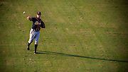 Baseball players for the Montgomery Biscuits do a pre-game workout at Generals Park in Jackson, Tennessee.