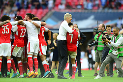 Arsenal manager Arsene Wenger celebrates with Alexis Sanchez after beating Chelsea in the FA Cup final - Mandatory by-line: Dougie Allward/JMP - 27/05/2017 - FOOTBALL - Wembley Stadium - London, England - Arsenal v Chelsea - Emirates FA Cup Final