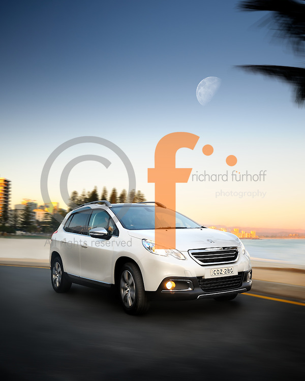 Peugeot compact, Gold Coast, Australia.