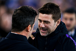 Tottenham Hotspur manager Mauricio Pochettino speaks with Everton manager Marco Silva - Mandatory by-line: Robbie Stephenson/JMP - 23/12/2018 - FOOTBALL - Goodison Park - Liverpool, England - Everton v Tottenham Hotspur - Premier League