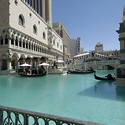 Exterior water channels on the Venetian Hotel. Las Vegas, Nevada. USA.