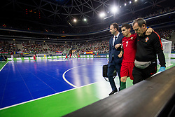 Bruni Coelho of Portugal during futsal match between Portugal and Spain in Final match of UEFA Futsal EURO 2018, on February 10, 2018 in Arena Stozice, Ljubljana, Slovenia. Photo by Urban Urbanc / Sportida