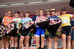 The classification leaders are presented to the crowds after the 116 km Stage 5 of the Boels Ladies Tour 2016 on 3rd September 2016 in Tiel, Netherlands. (Photo by Sean Robinson/Velofocus).