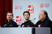 September 29, 2015: Guenther Steiner, Haas F1 Team principle. , Romain Grosjean, Gene Haas Haas Formula 1 team.