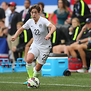 Meghan Klingenberg, U.S. Women's National Team, in action during the U.S. Women's National Team Vs Korean Republic, International Soccer Friendly in preparation for the FIFA Women's World Cup Canada 2015. Red Bull Arena, Harrison, New Jersey. USA. 30th May 2015. Photo Tim Clayton