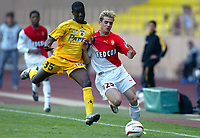 Fotball<br /> Monaco v Nantes<br /> 24. april 2004<br /> Foto: Digitalsport<br /> NORWAY ONLY<br /> <br /> JEROME ROTHEN (MON) / EMERSE FAE (NAN)
