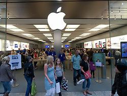 Busy Apple shop at Centro one of Europe's largest shopping mall in Oberhausen Germany