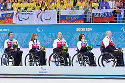 Mark Ideson, Sonja Gaudet, Dennis Thiessen, Ina Forrest, Jim Armstrong, Wheelchair Curling Finals at the 2014 Sochi Winter Paralympic Games, Russia