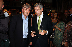 Left to right, STEVEN LOWY Group MD of Westfield and STUART ROSE at a party hosted by retail property group Westfield at the Natural History Museum, Cromwell Road, London SW7 on 17th September 2006.<br />
