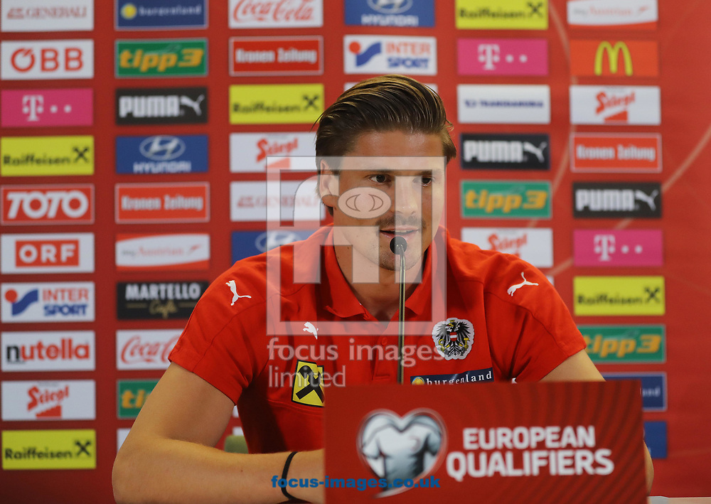 Sebastien Prodl pictured during the Austria Press Conference at the Aviva Stadium, Dublin<br /> Picture by Lorraine O'Sullivan/Focus Images Ltd +353 872341584<br /> 10/06/2017
