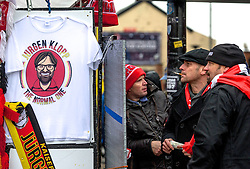 LIVERPOOL, ENGLAND - Sunday, December 12, 2015: Atmosphere begins to build up around Anfield, as Liverpool get ready to play host to West Bromwich Albion in the Premier League. (Pic by David Rawcliffe/Propaganda)