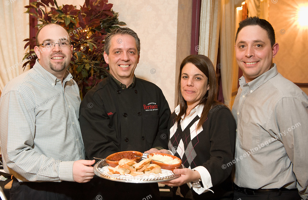 Michael Labo, Del Marshall, Tina Fitzgibbon and George Harrington of Bertucci's at Flavors of Neponset Valley 2011