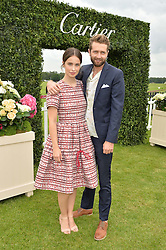 HEIDA REED and SAM RITZENBERG at the Cartier Queen's Cup Final 2016 held at Guards Polo Club, Smiths Lawn, Windsor Great Park, Egham, Surry on 11th June 2016.