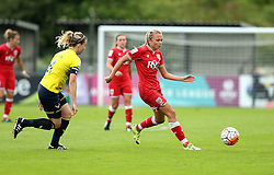 Claire Emslie of Bristol City Women passes the ball - Mandatory by-line: Robbie Stephenson/JMP - 25/06/2016 - FOOTBALL - Stoke Gifford Stadium - Bristol, England - Bristol City Women v Oxford United Women - FA Women's Super League 2